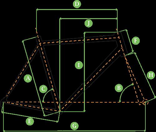 Bicicleta Oggi Hacker Geometria