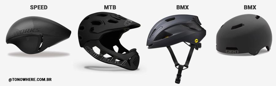 Tipos de Capacetes de Ciclismo