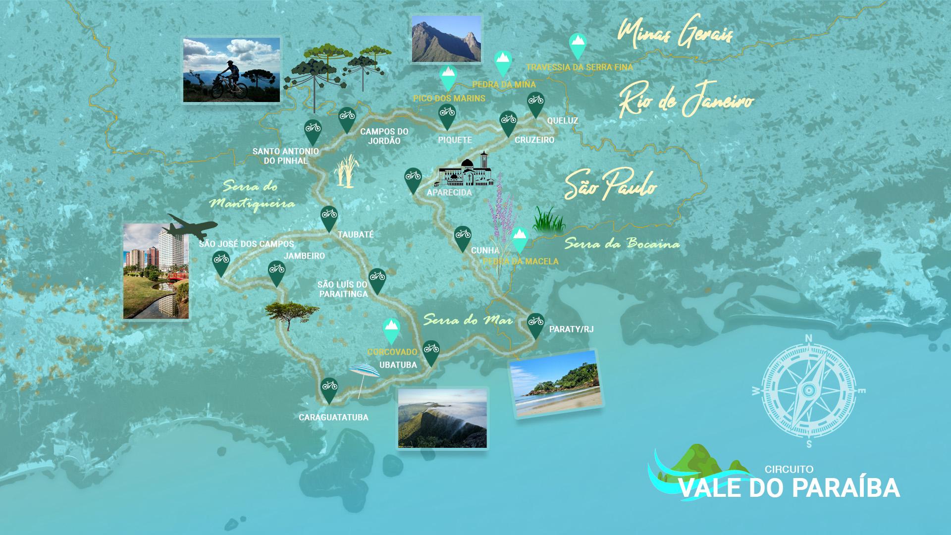 Mapa Provisório Circuito Vale do Paraíba